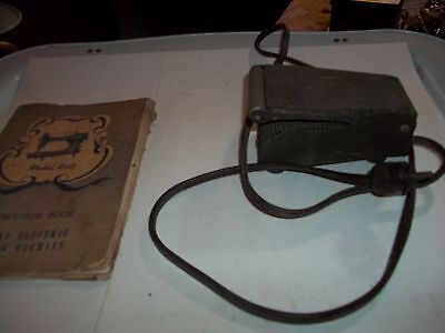 Vintage Rotarty Electric Sewing Machine Foot Pedal W/ Manual