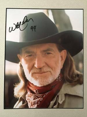 Willie Nelson Signed Autographed Oversized Photograph 9.5x11.5 Dated 1994