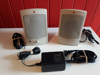 Appledesign Powered Speakers II apple vintage computer speakers working rare