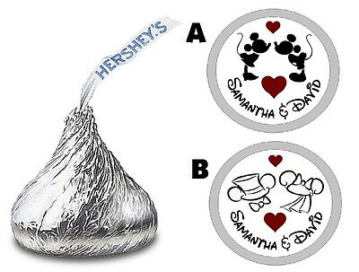 108 Mickey & Minnie Wedding Bridal Shower Engagement Party Hershey Kiss Favors