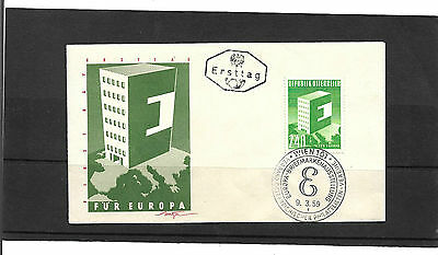 Austria 1959 Europa Set Un-Addressed Illustrated First Day Cover