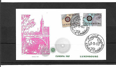 Luxembourg 1967 Europa Set Un-Addressed Illustrated First Day Cover