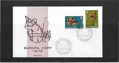 Luxembourg 1979 Europa Set Illustrated Un-Addressed First Day Cover