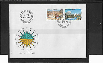 Switzerland 1977 Europa Set Illustrated Un-Addressed First Day Cover