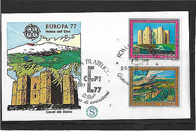 Italy 1977 Europa Set Illustrated Un-Addressed First Day Cover