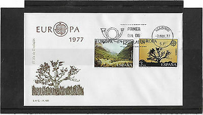 Spain 1977 Europa Set Illustrated Un-Addressed First Day Cover