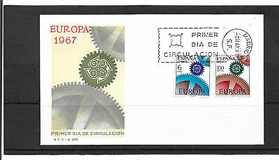 Spain 1967 Europa Set Illustrated Un-Addressed First Day Cover