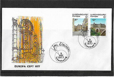 Luxembourg 1977 Europa Set Illustrated Un-Addressed First Day Cover