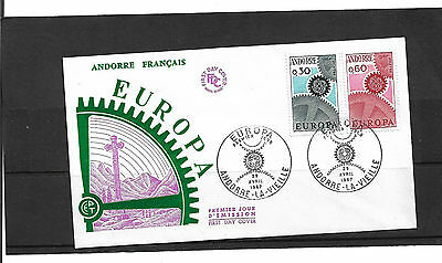 Andorra 1967 Europa Set Illustrated Un-Addressed First Day Cover
