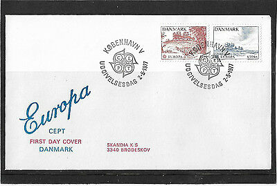 Denmark 1977 Europa Set Illustrated Un-Addressed First Day Cover