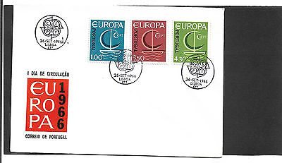 Portugal 1966 Europa Set Illustrated Un-Addressed First Day Cover