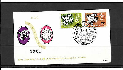 Belgium 1961 Europa Set Illustrated Un- Addressed First Day Cover