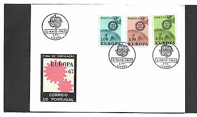 Portugal 1967 Europa Set Illustrated Un-Addressed First Day Cover