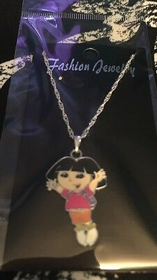 Jumping  Dora The Explorer Child's Necklace