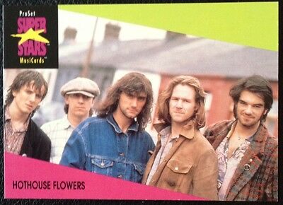 Hothouse Flowers Proset Superstar Musicards 1St Edition Card Rare Oop