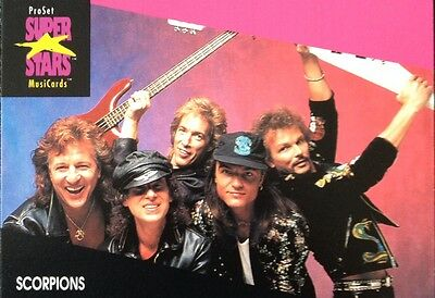 Scorpions Proset Superstar Musicards 1St Edition Card Rare Oop