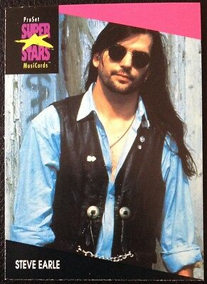 Steve Earle Proset Superstar Musicards 1St Edition Card Rare Oop