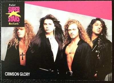 Crimson Glory Proset Superstar Musicards 1St Edition Card Rare Oop