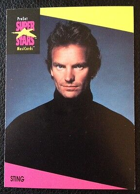 Sting Proset Superstar Musicards 1St Edition Card Rare Oop