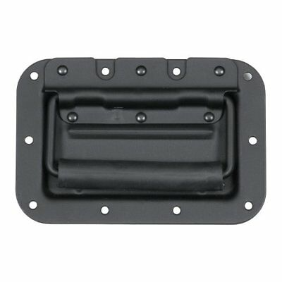 Medium Spring Loaded Recessed Handle- Flat Black Tool Box Garage Organizer Pulls