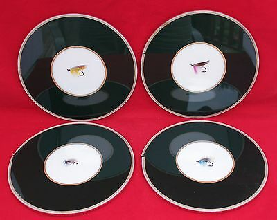Vintage Set Of 4 Fly Fishing Lure Coasters - Ebbles Ltd., London, England