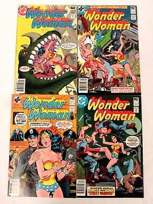 DC Comics Wonder Woman #257, 259, 260 & 262 High Grade Bronze NM 9.4-9.6 FC240