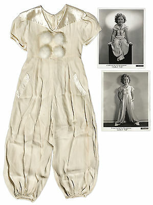 Shirley Temple Screen-Worn Pajamas From Curly Top from Her Estate w Pics In Them