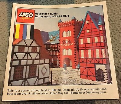Vintage 1971 Lego Collector's Guide Catalogue Legoland excellent condition