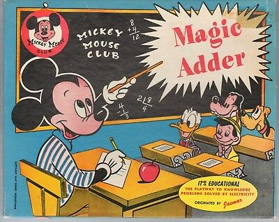 Mickey Mouse Club Magic Adder Set (1950's ???)