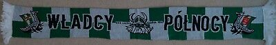 """Football scarf Lechia Gdansk """"WLADCY POLNOCY""""  perfect condition"""