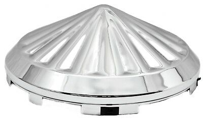 hub caps(2) front universal pinwheel chrome plated for steel wheel Freightliner