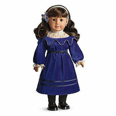 American Girl Samantha Blue Velvet Dress Retired BNIB