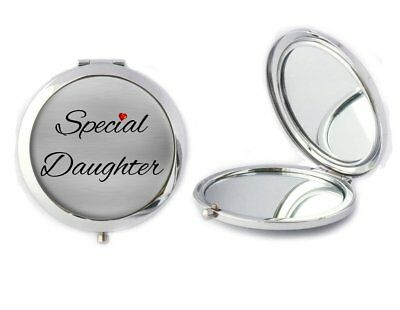 Special Daughter Metal Compact Mirror Ideal Birthday Gift T132