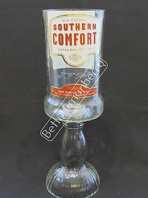 Southern Comfort Whiskey Large Stemmed Chalice Glass / Vase - 100% Recycled