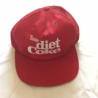 Vintage Diet Coke Red Trucker Hat Cap