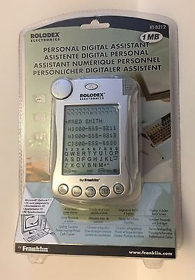 Franklin Rolodex Electronics 1MB Personal Digital Assistant - RT-8212 - New PDA