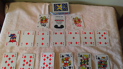 Vintage playing cards Donald, Disney, Modiano,Topolino