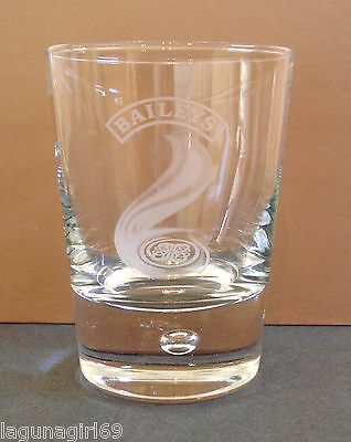 Baileys Irish Cream Heavy Bubble Base Glass Tumbler Pub Home Bar Used