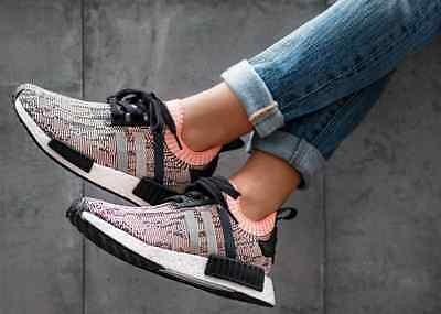 03b6c57d1 Adidas NMD R1 PK W Core Black   Clear Onix   Sun Glow BB2361 Women s  AUTHENTIC