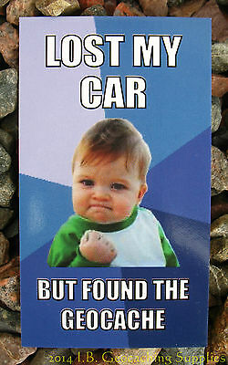 12 Geocaching Meme Cards - Lost the Car, but Found the Cache