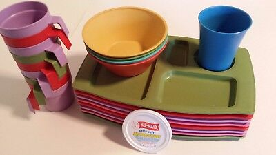 NU-MAID Vintage Collectible Margarine Cups, Bowls & Divided Trays, Circa 1960's