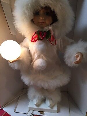 Vintage Animated Telco MOTION-ette Electric Christmas Lighted Snowball Eskimo