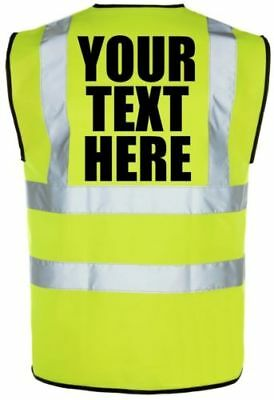 Hi Vis Vest Personalised Custom Printed Hi Viz High Vis Safety Vest Waistcoat