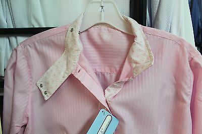 NEW Equine Couture Ladies Hannah Coolmax Show Shirt Pink & Blue - 30,34,36,38,40