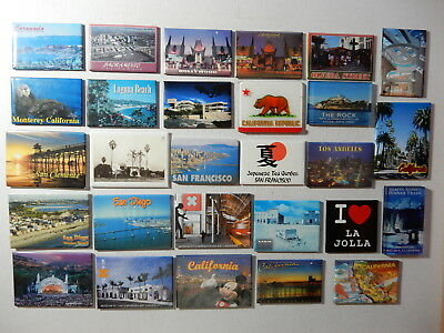 One Selected Souvenir Fridge Magnet from California USA