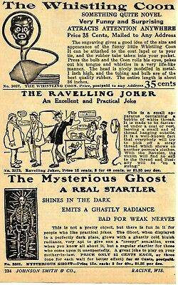 1933 Print Ad of Whistling Coon Black Americana Ravelling Joker Mysterious Ghost