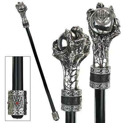 Dragons Grasp Gothic Walking Stick Design Toscano Grip  Grasp  Cane  Walk