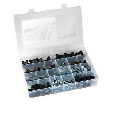"129-pc Jig Hardware Kit 5/16"" - 18 Threads with Knobs, T Bolts, Threaded Inserts"