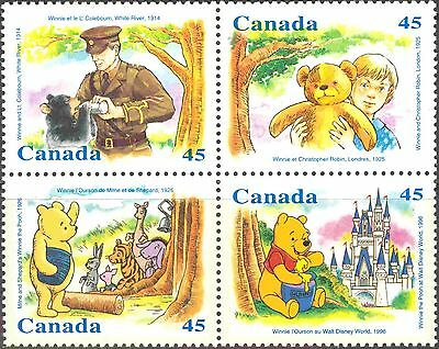 Canada #1618-1621 Mint Never Hinged Block of 4 Disney's Winnie the Pooh