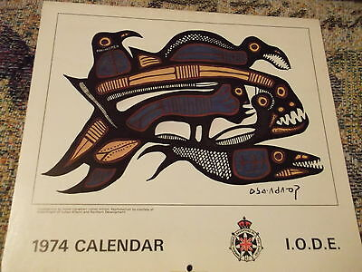 1974 Imperial Order Daughters of the Empire Calendar  promoted native Artisans